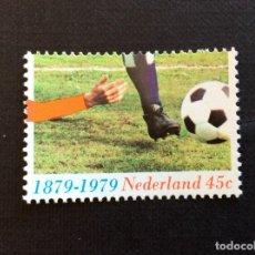 Sellos: HOLANDA Nº YVERT 1114*** AÑO 1979. CENTENARIO INTRODUCCION DEL FUTBOL EN HOLANDA. Lote 222719261