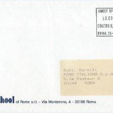 Sellos: 1986. ITALIA/ITALY. RODILLO SLOGAN. PROGRAMA UNICEF SPORT AID. LA CARRERA CONTRA EL TIEMPO.. Lote 222744578