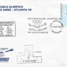 Sellos: 1996. ARGENTINA. RODILLO. VUELO BUENOS AIRES-ATLANTA. JUEGOS OLÍMPICOS/OLYMPIC GAMES. REMO/ROWING.. Lote 222750685