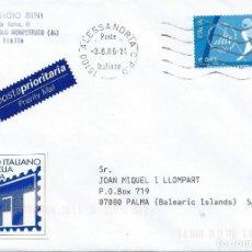 Sellos: 2006. ITALIA/ITALY. SOBRE CIRCULADO. SELLO JUEGOS OLÍMPICOS INVIERNO TURÍN. HOCKEY SOBRE HIELO.. Lote 222751202
