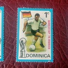 Sellos: DOMINICA 1974 - CAMPEONATO MUNDIAL DE FÚTBOL DE ALEMANIA - 3 SELLO NUEVO. Lote 223205566