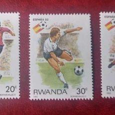 Sellos: RUANDA 1982 - CAMPEONATO DEL MUNDO DE FUTBOL ESPAÑA-82 - 3 SELLOS NUEVOS. Lote 223209213
