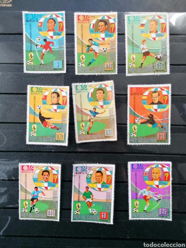 Sellos: Futbol Mundial Alemania 74 serie Guinea Ecuatorial usado - Foto 3 - 225107865