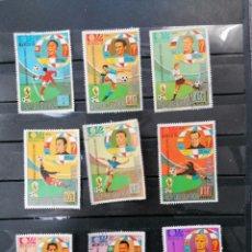 Sellos: FUTBOL MUNDIAL ALEMANIA 74 SERIE GUINEA ECUATORIAL USADO. Lote 225107865