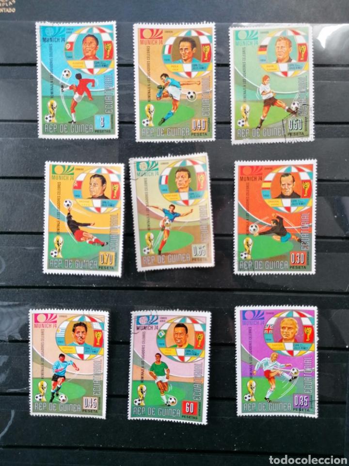 Sellos: Futbol Mundial Alemania 74 serie Guinea Ecuatorial usado - Foto 2 - 225107865