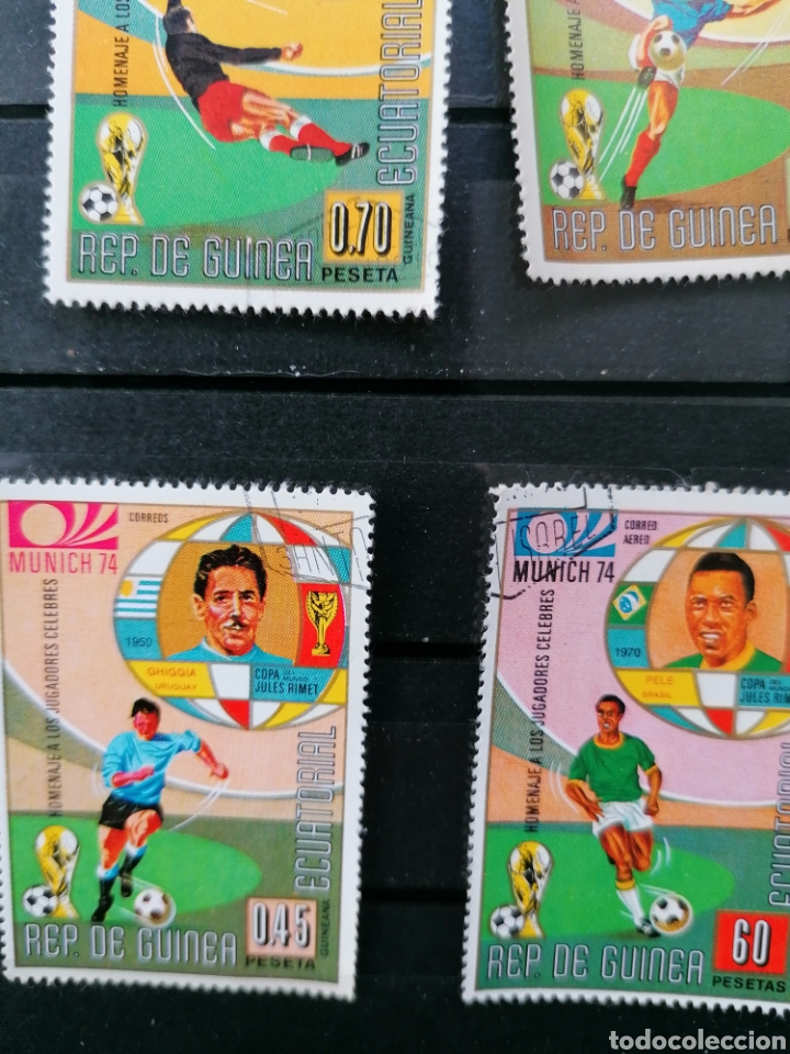 Sellos: Futbol Mundial Alemania 74 serie Guinea Ecuatorial usado - Foto 6 - 225107865