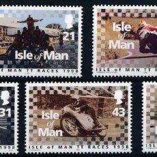 Sellos: ISLA DE MAN 1998 IVERT 808/12 *** CARRERAS MOTOCICLISTAS DEL TOURIST TROPHY - DEPORTES. Lote 225153486