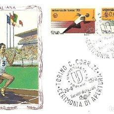 Sellos: UNIVERSIADA DE TURIN. SPD. ITALIA 1970. Lote 225161813