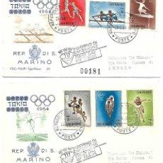Timbres: JUEGOS OLIMPICOS DE TOKYO. 2 SPD. SAN MARINO 1964. Lote 225164580