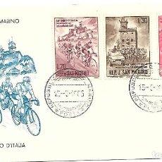 Sellos: 48 GIRO DE ITALIA. SPD. SAN MARINO 1965. Lote 225166587