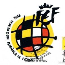 Sellos: EDIFIL 4514, REAL FEDERACION ESPAÑOLA DE FUTBOL (CENTENARIO), TARJETA MAXIMA PRIMER DIA DE 4-10-2009. Lote 225312132
