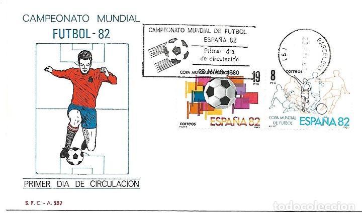 CAMPEONATO MUNDIAL DE FUTBOL ESPAÑA 1982. SPD. BARCELONA 1980 (Sellos - Temáticas - Deportes)
