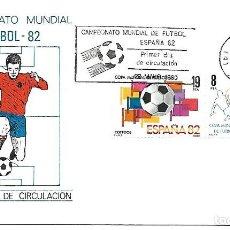 Sellos: CAMPEONATO MUNDIAL DE FUTBOL ESPAÑA 1982. SPD. BARCELONA 1980. Lote 225845150