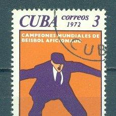 Sellos: 1835 CUBA 1972 U WORLD AMATEUR BASEBALL CHAMPIONS OF 1972, CUBA. Lote 226313205