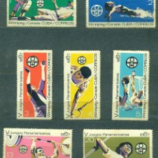 Sellos: 1311-3 CUBA 1967 MNH THE 5TH PAN-AMERICAN GAMES, WINNIPEG. Lote 228166302