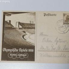Sellos: ALEMANIA OLIMPIADAS 1936 CARTA ENTERO POSTAL. Lote 229809740