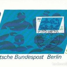 Sellos: ALEMANIA BERLIN IVERT 584, WATERPOLO, TARJETA MÁXIMA DE 8-5-1980. Lote 230411575