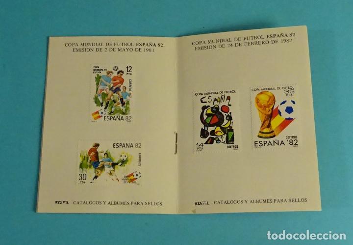 Sellos: CARNET DEPORTIVO MUNDIAL DE FÚTBOL 1982. EDIFIL - Foto 2 - 230435230