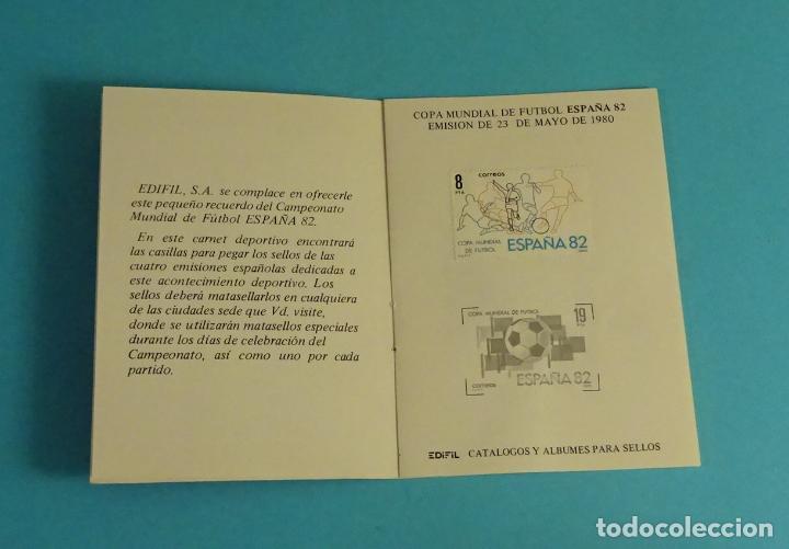 Sellos: CARNET DEPORTIVO MUNDIAL DE FÚTBOL 1982. EDIFIL - Foto 3 - 230435230