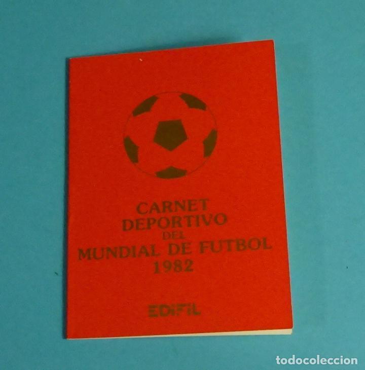 CARNET DEPORTIVO MUNDIAL DE FÚTBOL 1982. EDIFIL (Sellos - Temáticas - Deportes)