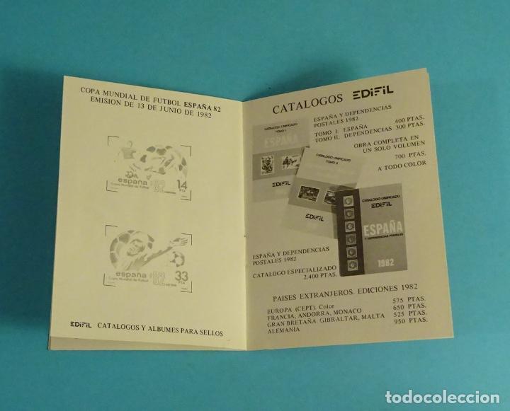 Sellos: CARNET DEPORTIVO MUNDIAL DE FÚTBOL 1982. EDIFIL - Foto 3 - 230435690
