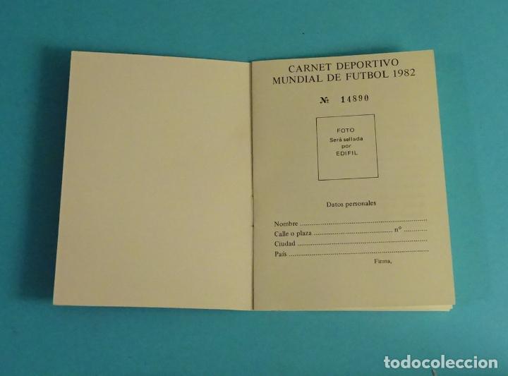 Sellos: CARNET DEPORTIVO MUNDIAL DE FÚTBOL 1982. EDIFIL - Foto 2 - 230435690