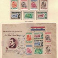 Sellos: KOL-295 CUBA 1951 MNH THE 30TH ANNIVERSARY OF JOSE CAPABLANCA'S VICTORY IN WORLD CHESS CHAMPIONSHIP. Lote 231284295