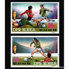 Sellos: DPR2578-9 KOREA 1985 MNH 13TH FIFA WORLD CUP. Lote 232313995