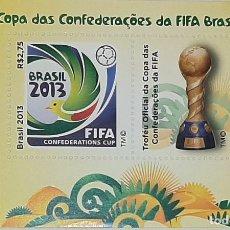 Sellos: 2013 BRASIL COPA DE FUTBOL DE CONFEDERACIONES MNH**. Lote 233611135