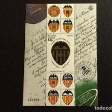 Sellos: FUTBOL. ESPAÑA Nº YVERT F5038*** AÑO 2019. CENTENARIO DEL VALENCIA CLUB DE FUTBOL. Lote 233717530