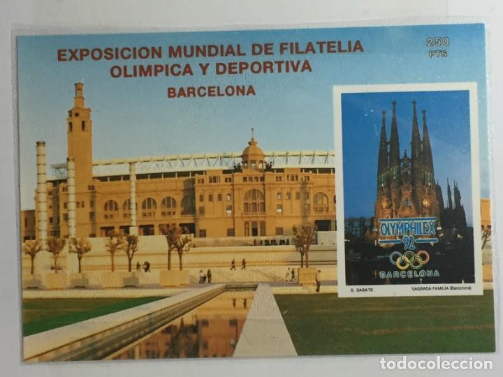EXPOSICIÓN MUNDIAL DE FILATELIA OLÍMPICA Y DEPORTIVA. BARCELONA. OLYMPHILEX 92 (Sellos - Temáticas - Deportes)