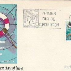 Sellos: EDIFIL 2202, CAMPEONATO DEL MUNDO SALVAMENTO Y SOCORRISMO, PRIMER DIA DE 5-9-1974 ALFIL. Lote 235050215