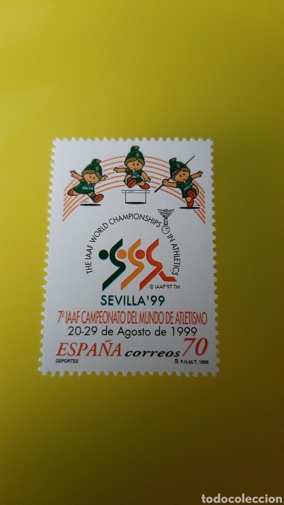 EDIFIL 3627 ATLETISMO DEPORTES SEVILLA ESPAÑA 1999 FILATELIA COLISEVM COLECCIONISMO (Sellos - Temáticas - Deportes)