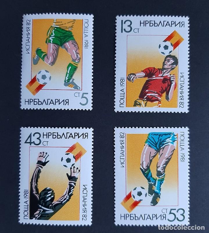 SELLOS BULGARIA 1981 - MUNDIAL FUTBOL ESPAÑA 82 - YVERT 2668 / 2671 - NUEVOS** (Sellos - Temáticas - Deportes)