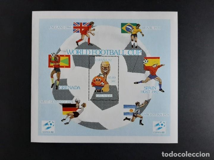 SELLOS GRENADA GRENADINES - MUNDIAL FUTBOL ESPAÑA 82 - HB - NUEVO** (Sellos - Temáticas - Deportes)