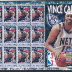 Sellos: SELLOS NEVIS 2005 BALONCESTO NBA VINCE CARTER. Lote 236685115