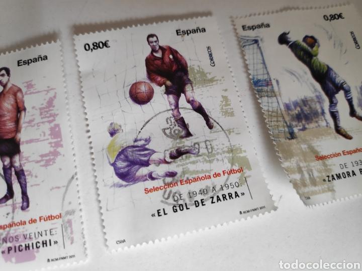 Sellos: Sellos España Usados Futbol. Seleccion Española, Zarra, Pichichi, Zamora - Foto 3 - 237312760