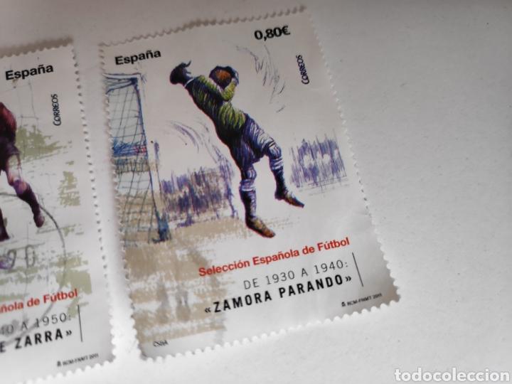 Sellos: Sellos España Usados Futbol. Seleccion Española, Zarra, Pichichi, Zamora - Foto 4 - 237312760