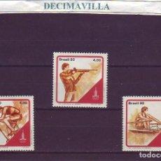 Sellos: DEVE070, BRASIL, OLIMPIADAS, MOSCU 1980, 1432/354. Lote 237543925
