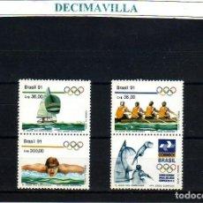 Sellos: DEVE071, BRASIL, OLIMPIADAS, BARCELONA 1992, 1991, 2009/11. Lote 237544990
