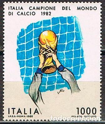ITALIA IVERT Nº 1542, CAMPEONATO DEL MUNDO DE FUTBOL 1982, NUEVO (Sellos - Temáticas - Deportes)