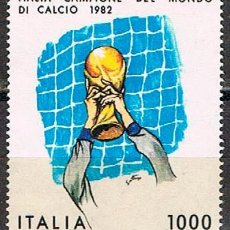 Sellos: ITALIA IVERT Nº 1542, CAMPEONATO DEL MUNDO DE FUTBOL 1982, NUEVO. Lote 237904730