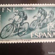 Sellos: IFNI EDIFIL 208, DÍA DEL SELLO 1964: CICLISMO. Lote 239673390