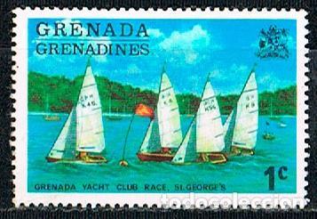 GRANADINAS DE GRANADA Nº 114, CARRERA DEL CLUB DE YATES DE ST. GEORGES, NUEVO CON SEÑAL DE CHARNELA (Sellos - Temáticas - Deportes)