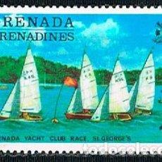 Sellos: GRANADINAS DE GRANADA Nº 114, CARRERA DEL CLUB DE YATES DE ST. GEORGES, NUEVO CON SEÑAL DE CHARNELA. Lote 240703555