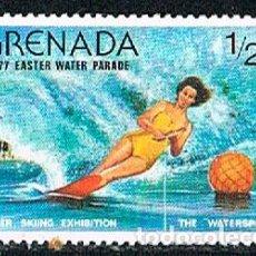 Sellos: GRANADA Nº 833, CONCURSO DE ESQUI ACATICO 1977, NUEVO***. Lote 240705230