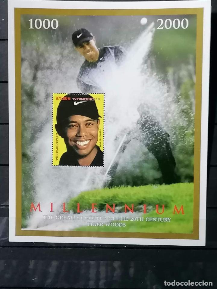 Sellos: Golf Tiger Woods sellos Hb Turmekistan año 2000 Nuevo ** perfecto - Foto 2 - 262433285