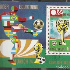 Sellos: GUINEA ECUATORIAL. 1974. HB.JUEGOS OLIMPICOS MUNICH 74. FOOTBALL.. Lote 244434100