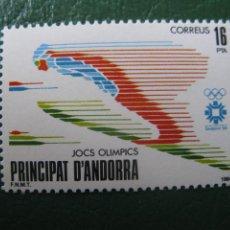Sellos: ANDORRA, 1984, JUEGOS OLIMPICOS DE SARAJEVO, EDIFIL 176. Lote 244899530