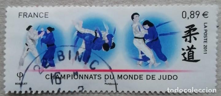 2011. FRANCIA. 4574. CAMPEONATOS DEL MUNDO DE JUDO ORGANIZADOS EN PARÍS. SERIE COMPLETA. USADO. (Sellos - Temáticas - Deportes)